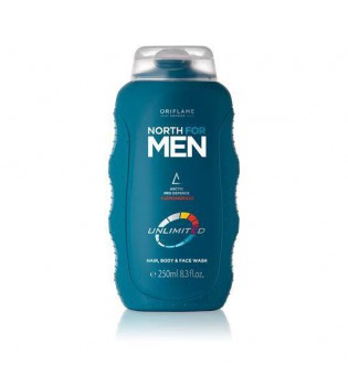 Šampon na vlasy, obličej a tělo 3v1 North For Men Unlimited