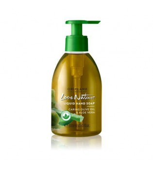 Pečující tekuté mýdlo s olivovým olejem a aloe vera Love Nature 300 ml