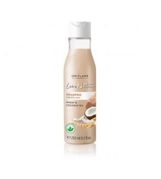Šampon pro suché vlasy s pšenicí a kokosovým olejem Love Nature 250 ml