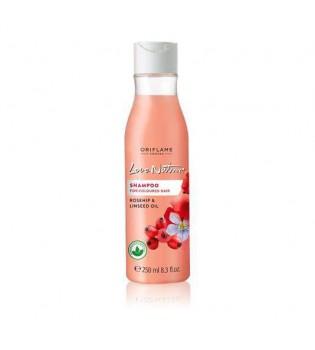 Šampon pro barvené vlasy s šípky a olejem z lněných semínek Love Nature 250 ml