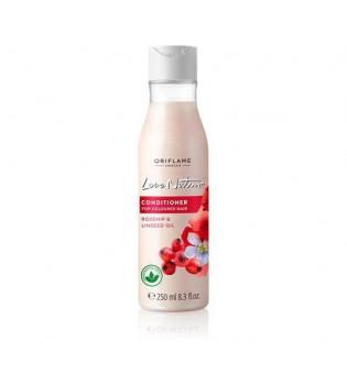 Kondicionér pro barvené vlasy s šípky a olejem z lněných semínek Love Nature 250 ml