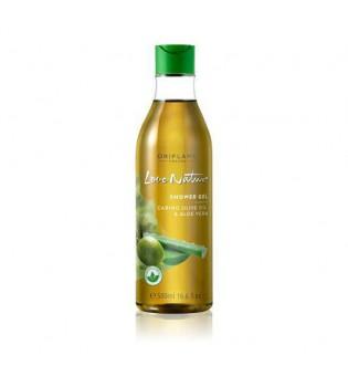 Pečující sprchový gel s olivovým olejem a aloe vera Love Nature - maxi balení 500 ml
