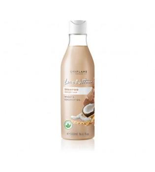 Šampon pro suché vlasy s pšenicí a kokosovým olejem Love Nature - maxi balení 500 ml