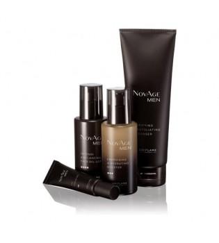 NovAge Men Sada - čisticí peeling + oční gel + sérum + pleťové mléko