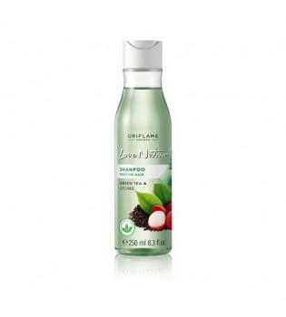 Šampon pro jemné vlasy se zeleným čajem a liči Love Nature 250 ml