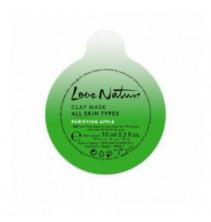 Čisticí jílová pleťová maska s jablkem Love Nature 10 ml