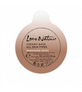 Vyživující krémová pleťová maska s kakaovým máslem Love Nature 10 ml