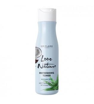 Osvěžující pleťová voda s bio aloe vera  a kokosovou vodou  Love Nature 150 ml