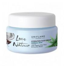 Hydratační krém s bio  aloe vera a kokosovou vodou  Love Nature 50 ml
