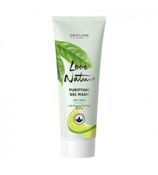 Čisticí gel s bio vůni  čajovníkem  a limetkou  Love Nature 125 ml