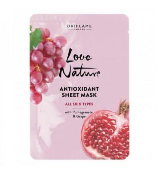 Antioxidační textilní pleťová maska Love Nature 24 ml