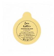 Rozjasňující gelová maska s bio pomerančem a fíky Love Nature 10 ml