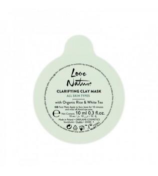 Rozjasňující jílová maska s bílým čajem a rýží Love Nature 10 ml