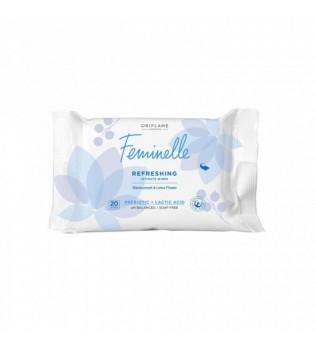 Osvěžující ubrousky pro intimní hygienu s černým rybízem a lotosem Feminelle