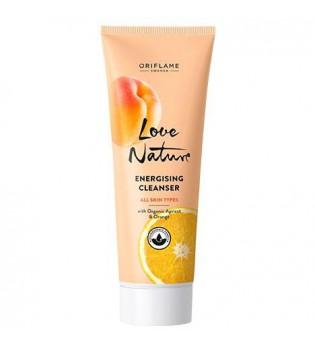 Povzbuzující čisticí gel s bio meruňkami a pomerančem Love Nature