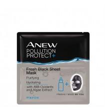 Anew Osvěžující černá textilní pleťová maska 3 ks