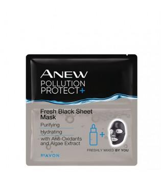 Osvěžující černá textilní pleťová maska 3 ks
